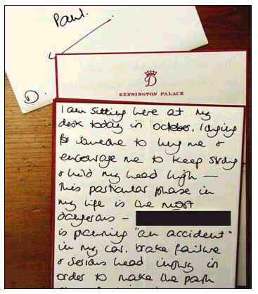 The Best Accident Princess Diana Letter